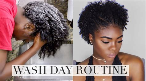Natural Hair  Wash Day Routine Doovi