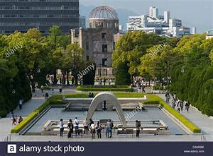 The Cenotaph and A-Bomb Dome in Hiroshima Peace Memorial ...