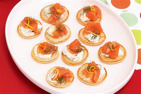 canape ideas nigella blini toppings nz