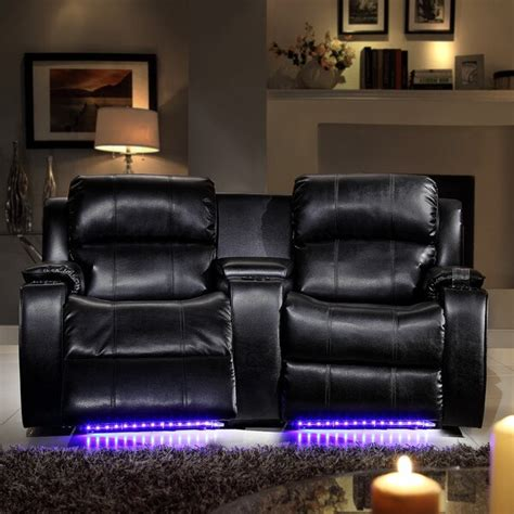 Theater Loveseat by Garrett Led Lighted Massager Cooler 2 Seater Theater