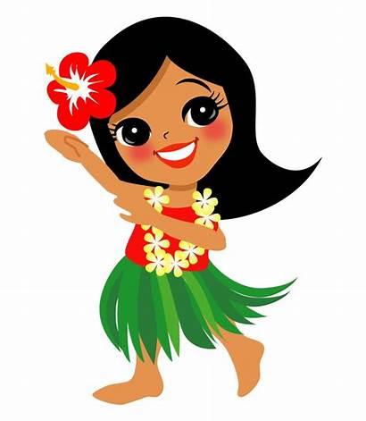 Hula Clip Dancer Clipart Hawaiian Dancers Hawaii
