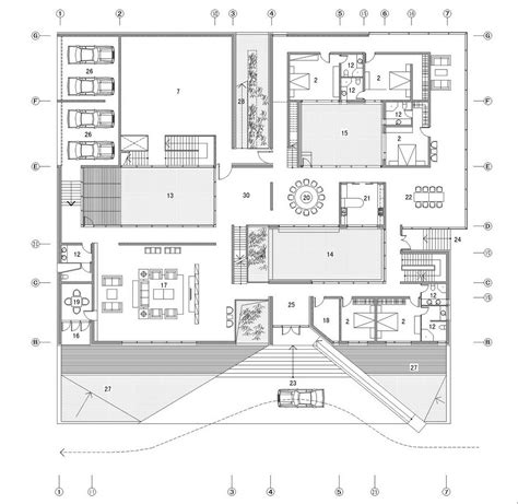 architectual plans gallery of the concave house tao architect studio 21