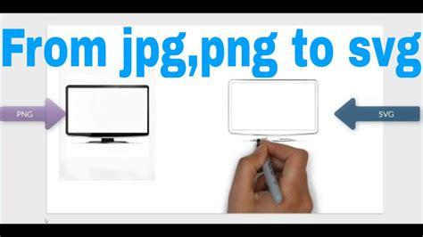You can convert your png as well as jpg. How to convert a PNG and Jpg to SVG for videoscribe - YouTube