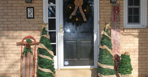 large diy outdoor christmas trees