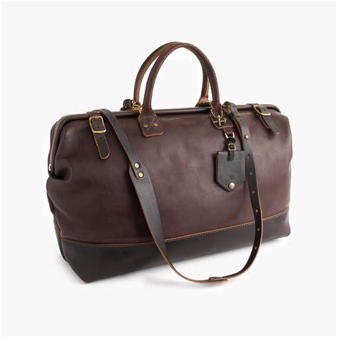 lyst jcrew billykirk overnight duffel bag  brown  men