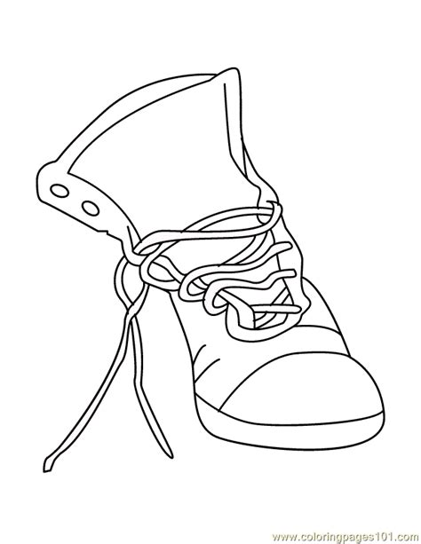shoe coloring sheet coloring home
