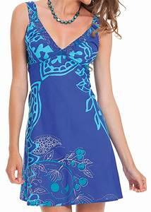 robe courte d ete bleue originale et coloree berenice With robe d été femme originale