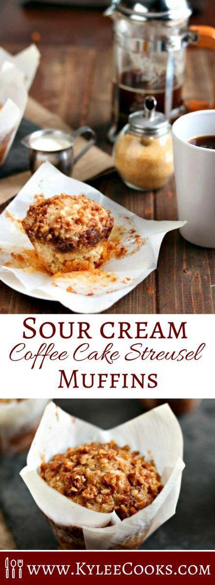 sour cream coffee cake streusel muffins recipe