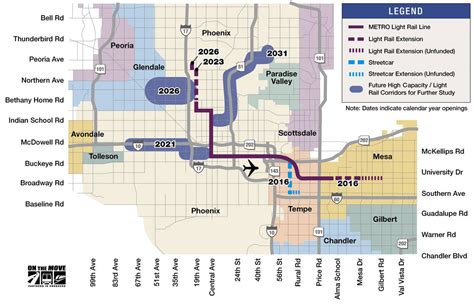 phoenix light rail route reevaluating valley metro s west valley light rail plans