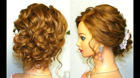 Hairstyles For Hair Updo by Prom Wedding Hairstyle Curly Updo For Medium Hair