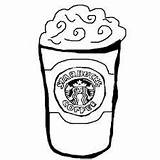 Starbucks Coloring Cup Coffee Pages Printable Outline Template Frappuccino Sketch Zoeken Google Collab Rebecca Valentines Thing Drawings Categories sketch template