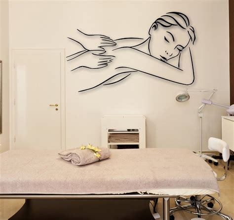 See more ideas about massage room, wall decor, design. Girl Massage Wall Decal Massage Relaxation Spa Beauty Spa Salon Relax Wall Sticker Shop ...