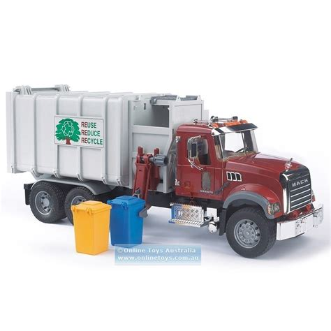 bruder garbage bruder mack granite side loading garbage truck online
