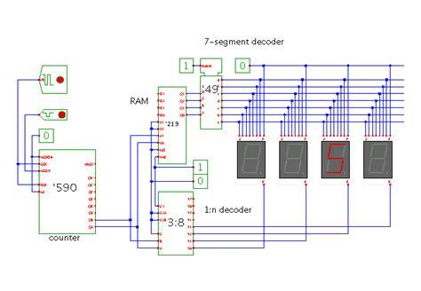 multiplexed 7 segment display driver for mac