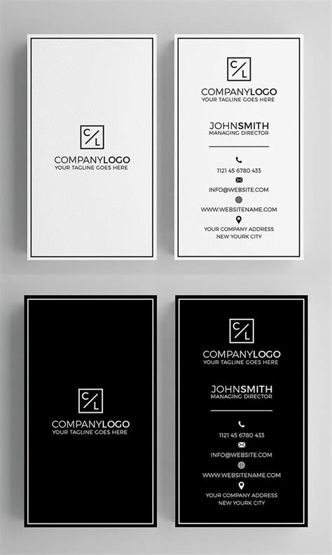 minimal clean business cards psd templates design