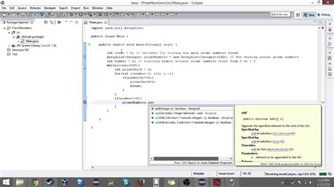 prime numbers    java eclipse youtube