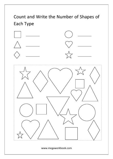 free printable shapes worksheets for preschool