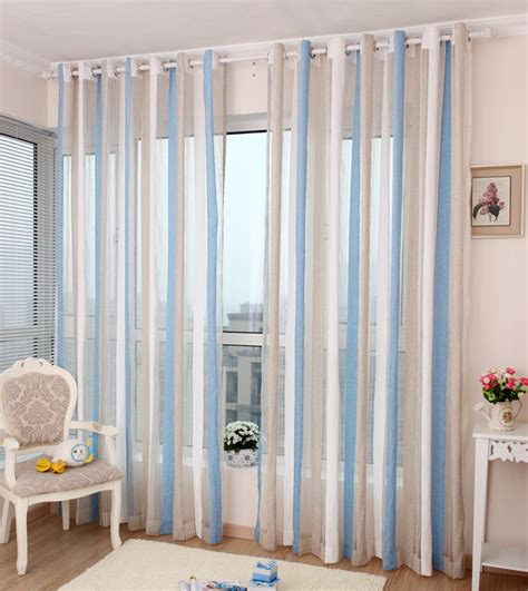 Vertical Striped Voile Curtains by The Afternoon Sun High Grade Chenille Curtains Tulles
