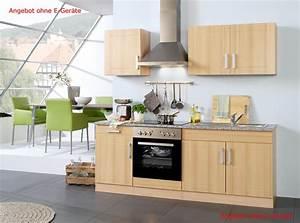 Küchen Ohne Elektrogeräte : k chenzeile varel k chen leerblock breite 210 cm buche k che k chenzeilen ~ Orissabook.com Haus und Dekorationen