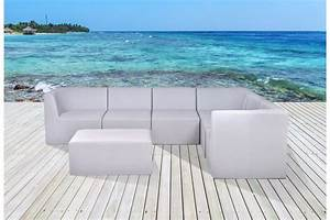 Modular Outdoor Sectional Lounge In Sling Mesh