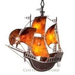 clayton oxford pirate ship boat chandelier light
