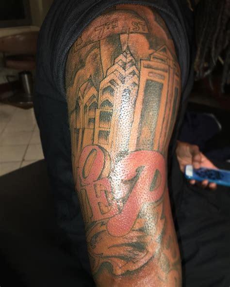 philly theme  sleeve tattoo   yesterday   bad pic btw tattoosbyfon tattoo