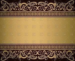 Gold Swirl Clip Art