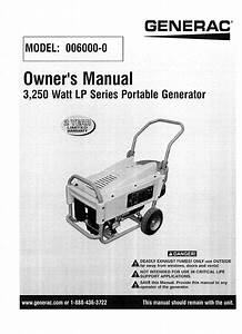 Generac 006000 0 User Manual Generator Manuals And Guides