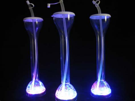 Flashing Yard Glass Barware Light Up Blinking Blinky