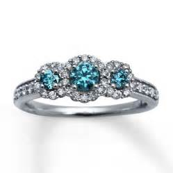 light blue engagement rings light blue diamonds 7 8 ct tw engagement ring 14k white gold