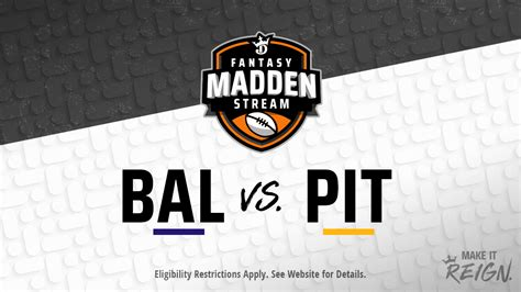 Madden Stream: Ravens vs. Steelers Showdown Strategies ...