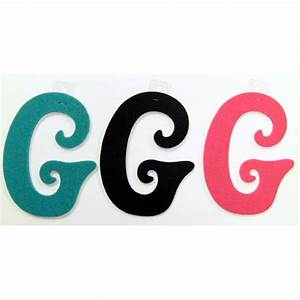 felties script letter with adhesive g pink black blue set With pink adhesive letters