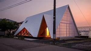Maison Minimaliste En Forme De Tente Au Japon Par Takeru