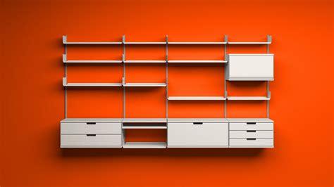 Modular Desk Units Wall Mounted Adjustable Shelving