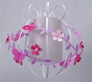 Abat Jour Chambre : suspension chambre fille fleurs de cerisier et papillons fabrique casse noisette ~ Teatrodelosmanantiales.com Idées de Décoration
