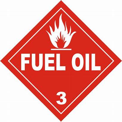 Placard Fuel Oil Class Placards Hazmat Safetysign