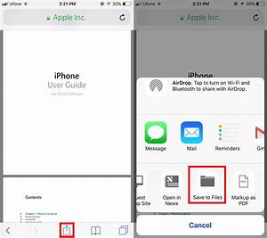 Our first look at the files app in ios 11 for Documents save app