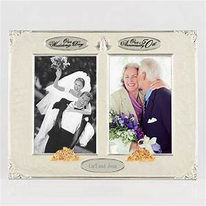 014263 4x6 twin wedding 50th anniversary photo frame With wedding anniversary photo frames