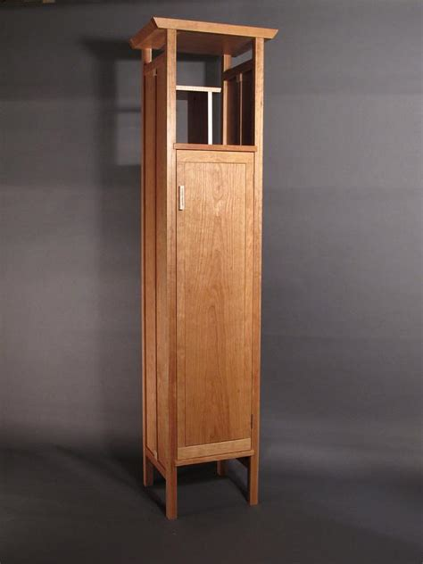 Thin Armoire by Narrow Armoire Cabinet In Cherry Handmade Custom Wood