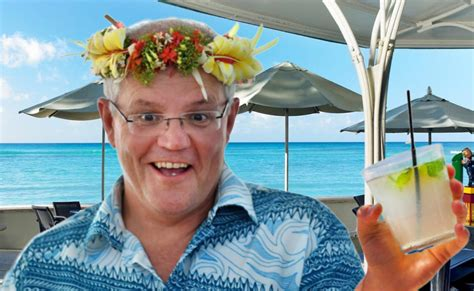 morrison hawaii eating vacation during chaser commissioner criticised fires