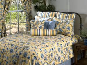 cherborg yellow blue floral daybed bedding comforter set