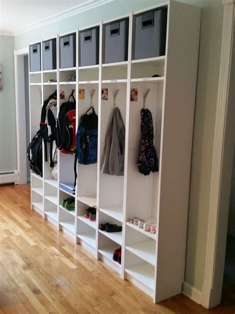 ikea hack billy bookcases turned cubbies motherwood past projects in 2019 ikea billy