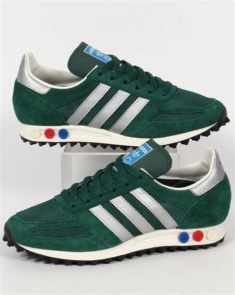 adidas la trainer og trainers green silver shoes original