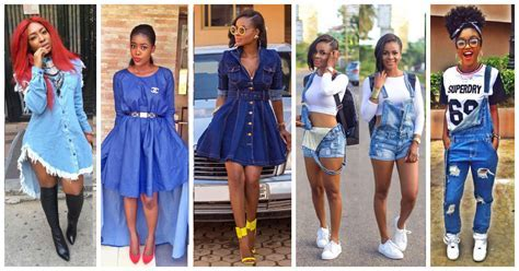 10 Awesome Females Rocking Denim Outfits.   Amillionstyles.com