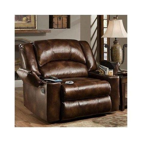 Oversized Rocker Recliner Leather by Simmons Brown Leather Sized