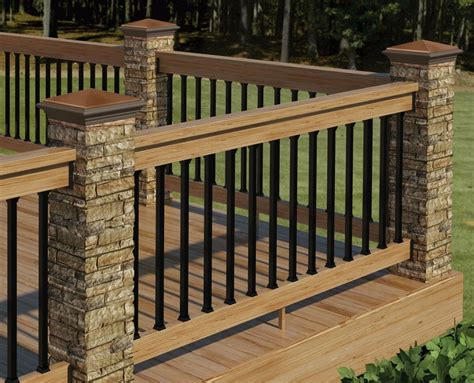 outdoor banister decor tips cool exterior design with deck railing