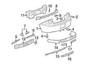 Chevrolet Cobalt Bracket  Bumper  Cover   Rear  Upper  Lower   Bumper Guide For