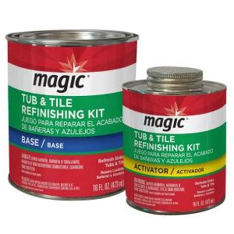 Bathtub Reglazing Kit Home Depot by Magic 16 Oz Bath Tub And Tile Refinishing Kit In White