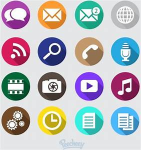 Mobile phone icons Free vector in Adobe Illustrator ai ...