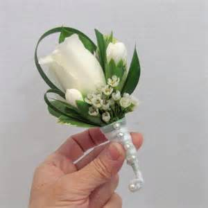 prom corsages white boutonniere finishing touch flower sealant